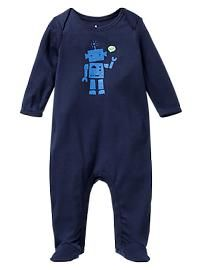 Robot footed one-piece