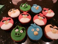 Picture of Angry Bird Cupcakes