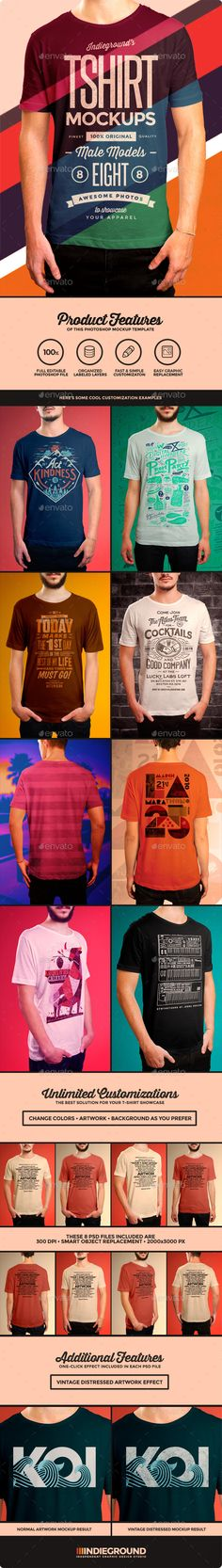 Men T-Shirt Mockups | t-shirtmockup #tshirtmockup | Download: http://graphicriver.net/item/men-tshirt-mockups/8933044?ref=ksioks