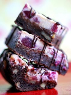 bing cherry cheesecake brownies.