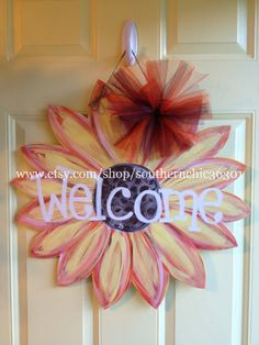 Hey, I found this really awesome Etsy listing at http://www.etsy.com/listing/156258127/sunflower-wooden-door-hanger