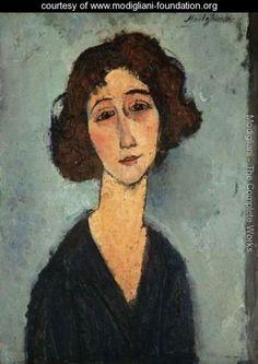 Jeune Femme (Totote De La Gaite) - Amedeo Modigliani - www.modigliani-foundation.org