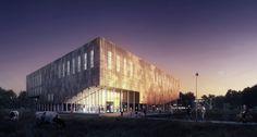 Building O - University of Antwerp Auditorium and Research Building Winning Proposal / META architectuurbureau,© WAX architectural visualizations