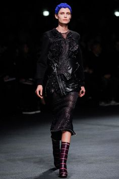 A/W 2013 - chic leather embellishment with a touch of grunge