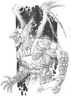 Black Lantern Hawkman by Ivan Reis (Penciller)