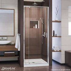 Shower Enclosures and Doors 121850: Dreamline Flex 72 High X 36 Wide Pivot Frameless Shower Door With Clear Glass -> BUY IT NOW ONLY: $361.2 on eBay!