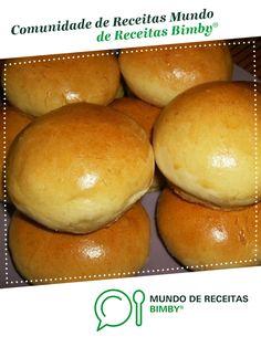Pães de leite de chef guedes. Receita Bimby<sup>®</sup> na categoria Crianças do www.mundodereceitasbimby.com.pt, A Comunidade de Receitas Bimby<sup>®</sup>. Portuguese Recipes, Scones, Hamburger, Cookies, Food, Breads, Cupcakes, Diy, Desert Recipes