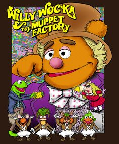 The Muppets: Willy Wocka and the Muppet Factory Sesame Street Muppets, Sesame Street Characters, Jim Henson, Cartoon Crossovers, Cartoon Characters, Disney Crossovers, Disney Art, Disney Pixar, Drunk Disney