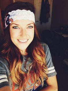 Denver Broncos Lace Headband by thosecraftycousins on Etsy, $10.00