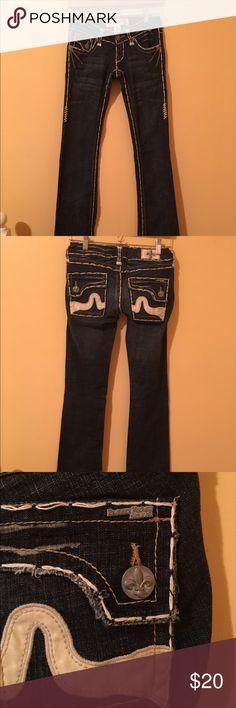 Laguna Beach Dark Denim Flare Jeans Spunky denim flare jeans with pocket detailing. Laguna Beach Jeans Flare & Wide Leg