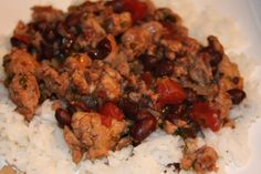 Tequila Lime Chicken Sausage with Black Beans