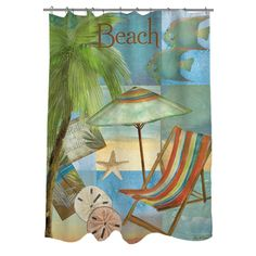 Thumbprintz Beach Memories B Shower Curtain