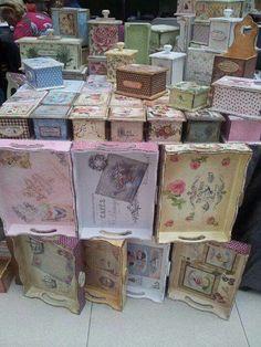 Cajas y charoles