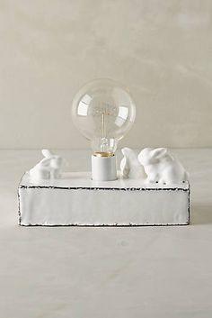 Ceramic Rabbit Lamp Base