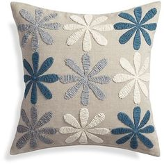 "Crate & Barrel Hope 20"" Pillow with Feather-Down Insert"