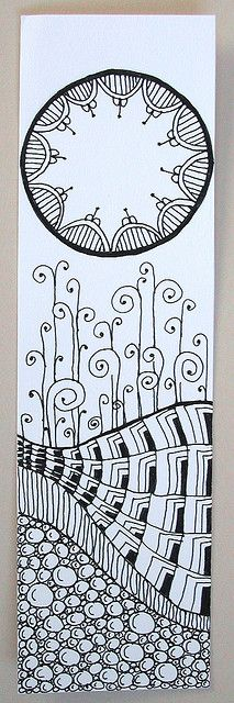 Zentangle Bookmark 2 by joanieponytail57. http://www.flickr.com