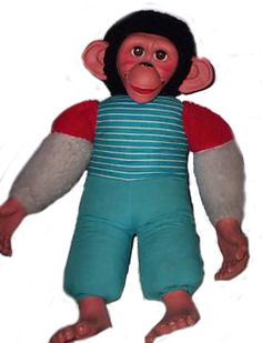 Jacko Monkey was a gorgeous monkey that was made by Chad Valley I think. It was easily one of my favourite toys in the early and I still ha. Vintage Toys 1970s, Retro Toys, 1970s Toys, 1980s Childhood, My Childhood Memories, Toy Monkey, Toys Uk, Teenage Years, My Memory