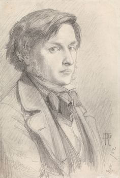 Dante Gabriel Rossetti, Ford Madox Brown, 1852, pencil on paper, 17.1 x 11.4 cm (6 3/4 x 4 1/2 in.). National Portrait Gallery, London