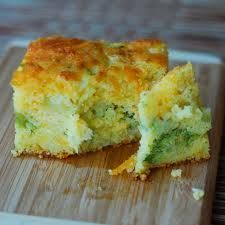 1 bag chopped frozen broccoli   1 box Jiffy Cornbread mix   1/2 cup chopped onions   4 eggs   2 cups shredded mild cheddar cheese   1 stick melted butter   Mix all ingredients together. Place in greased 10.5 X 8 casserole dish. You could also put into muffin tin. Bake @ 350*F for 30 minutes.