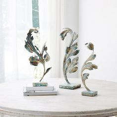 Acanthus Leaf on Stand Gray Painted Walls, Grey Walls, Grey Home Decor, Gray Decor, Entrance Gates, Acanthus, Ballard Designs, Out Of Style, Stairways