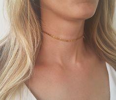 Gold choker necklace, Gold tattoo necklace, Boho choker necklace, Coin choker…