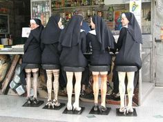 wonder if the Pope approved these new habits.......LOL