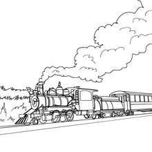 jolie locomotive colorier