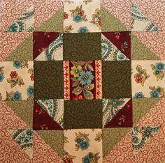 Civil War Christmas Star... week 52 of Barbara Brackman's Civil War Block of the Week project