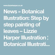News » Botanical Illustration: Step by step painting of leaves – Lizzie Harper Illustration ¦ Botanical Illustration & Scientific Illustration by Lizzie Harper
