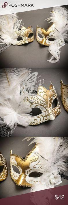 Prom Party Ball Jester Mardi Gras Masquerade Half face Mask graduation bachelor