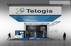 Telogis - Custom Trade Show Display - Check EXHIBITMAX Trade Show Rental, if your needs require a custom designed and built trade show booth Trade Show Design, Show Booth, Event Marketing, Custom Design, Exhibit, Platform, Display, Euro, Check