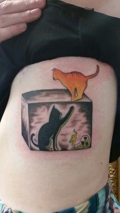 Schrodinger's Cat Theory Tattoo