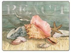 CounterArt Beach Shells Hardboard Placemat, Set of 2 by CounterArt, http://www.amazon.com/dp/B00C1LUDK8/ref=cm_sw_r_pi_dp_PIJKrb07MA6A6