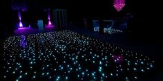 Starry Night Wedding Reception Starlit Dance Floor.