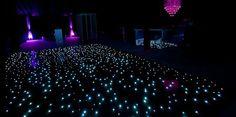 Starry Night Wedding Reception Starlit Dance Floor.