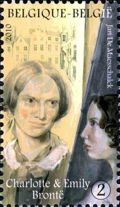 Belgium, 2010. Literary Stamps: Sisters and writers Charlotte & Emily Brontë
