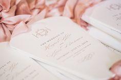 wedding ceremony program by Hi Note, photo by Atlanta wedding photographer Vue Photography | via junebugweddings.com