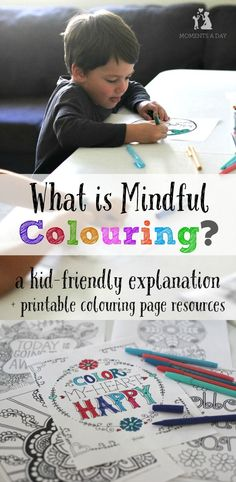 How to explain mindful colouring to kids plus where to go to get awesome colouring pages for kids and adults Mindfulness for Kids Teaching Mindfulness, Mindfulness Exercises, Mindfulness For Kids, Mindfulness Activities, Mindfulness Meditation, Mindfulness Quotes, Mindfulness Practice, Mindful Activities For Kids, Meditation Music