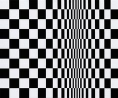 Maddie~This is another example of Bridget Riley's work. Bridget Riley is an English painter. She is one of the most know person in op art. She was born in London in 1931, She was a teacher for a short time, and worked in a glass shop.