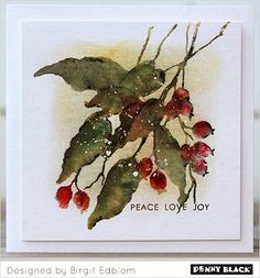 Featuring Penny Black stamps- click through for supplies and instructions