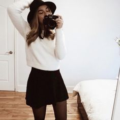 Skater Skirt, What To Wear, Fashion Ideas, Outfit Ideas, Ootd, Skirts, Closet, Outfits, Style