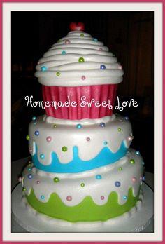 giant cupcake by HomemadeSweetLove on Cake Central