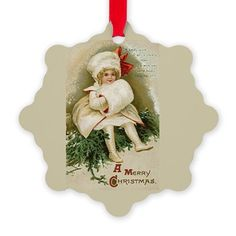Vintage Christmas Child With Ornament