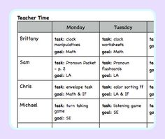 Lesson Planning for an Autism Classroom by theautismhelper.com