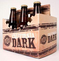 California Dark #beer #packaging #diecut