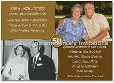 Golden wedding anniversary invitations golden wedding