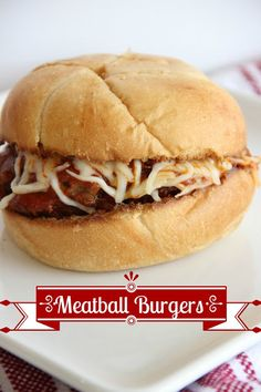 Fabulous Meatball Burgers-a Rachael Ray recipe