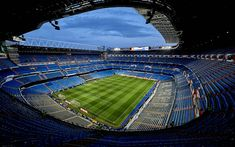 Scarica sfondi Stadio Santiago Bernabeu, 4k, stadio di calcio, il Real Madrid, Stadio, calcio