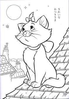 BAUZINHO DA WEB - BAÚ DA WEB Desenhos para colorir pintar e Atividades Escolares: Desenhos da gatinha Marie para colorir, pintar, imprimir!