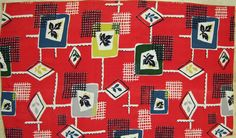 1950s Fabric Remnant Atomic